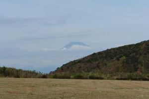 初日だけ見えた富士山